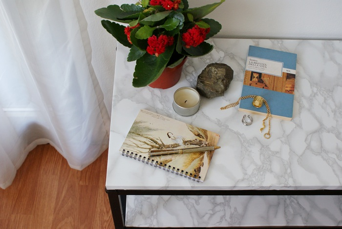 faux marble table diy francinesplaceblog