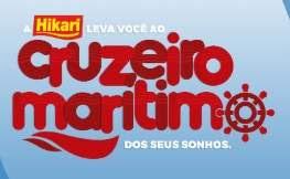Cadastrar Promoção Hikari 2018 Leva Você Cruzeiro Marítimo dos Sonhos