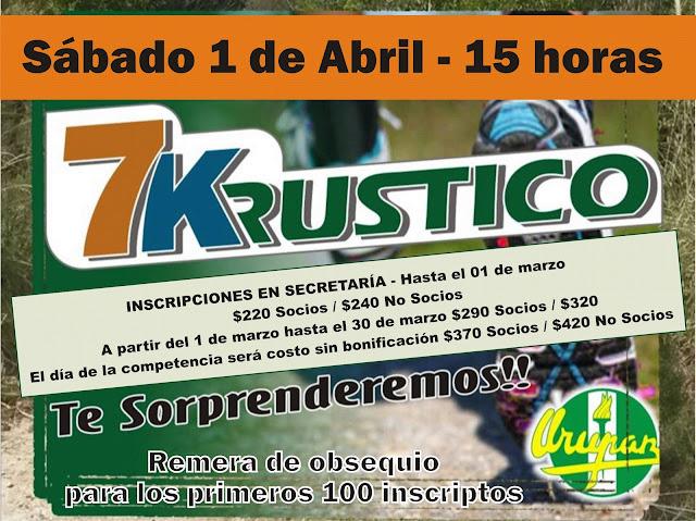 7K rústicos de Urupan en Pando (Canelones, 01/abr/2017)