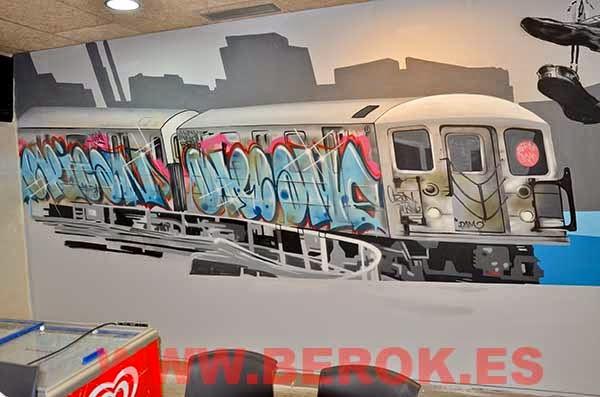 Graffitis tren New York