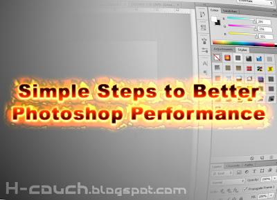 درس 2 : خطوات بسيطة لتحسين أداء فوتوشوب