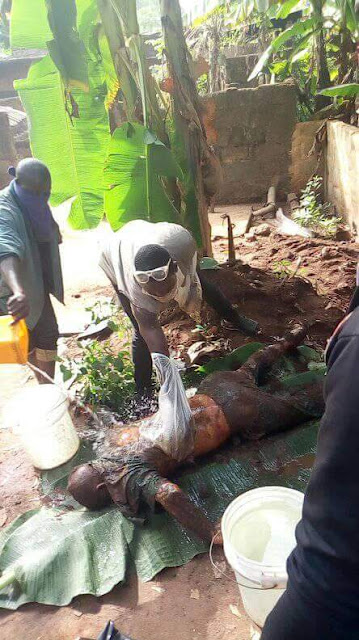 Graphic: Mother and two sons allegedly kill her husband in Anambra, buries body under a plantain tree