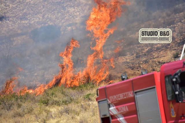 Προσοχή: Υψηλός ο κίνδυνος πυρκαγιάς την Πέμπτη 9/7/ στην Αργολίδα