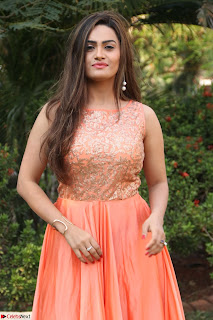 Actress Sakshi in beautiful orange Anarkali Dress Spicy Pics    032.jpg
