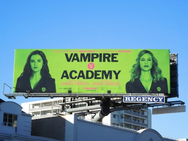 Vampire Academy movie billboard