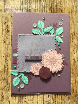 Learn how to create a beautiful floral greetings card with the Touches of Texture stamp set by Stampin' Up!