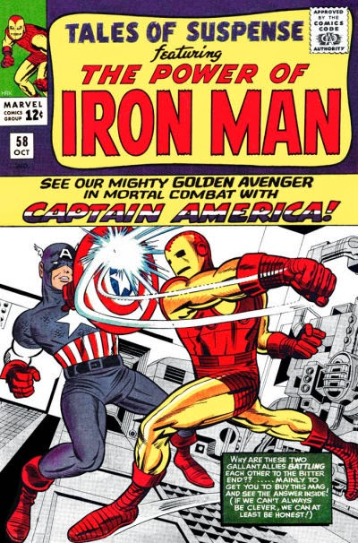 Tales of Suspense #58, Iron Man v Captain America