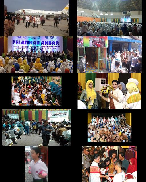 foto-foto, Ibu Negara Iriana Kunker Ke Riau