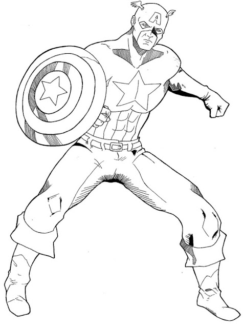 Ba da web capit o am rica desenhos para imprimir for Immagini super eroi da colorare