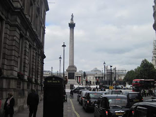 Headed towards Nelson's Column.