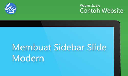 Contoh Website Membuat Sidebar Slide Modern Style