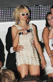 Paris Hilton Partying in a club