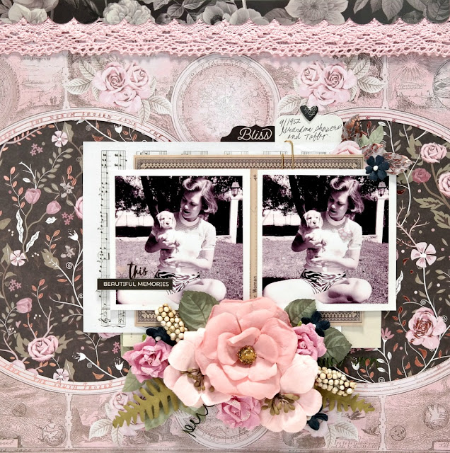 Beautiful Memories Layout by Dana Tatar for Scraps of Darkness - August Sparkle and Shine Kit