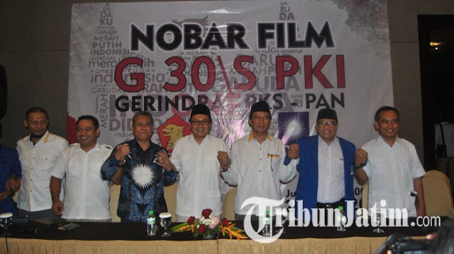 Paling Semangat Teriak Nobar Film PKI, Tiga Partai di Jatim Ini Lakukan Kesalahan Yang Memalukan