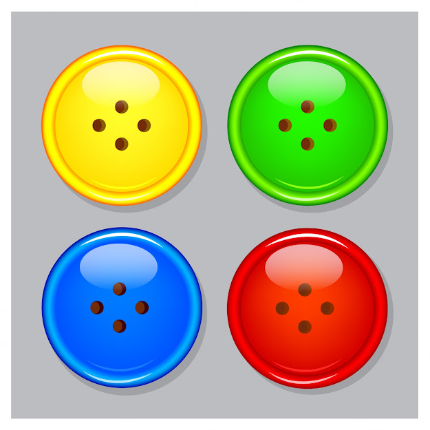 Plastic Buttons Free Vector