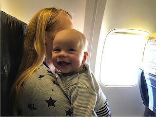 Der Brudi im Flugzeug