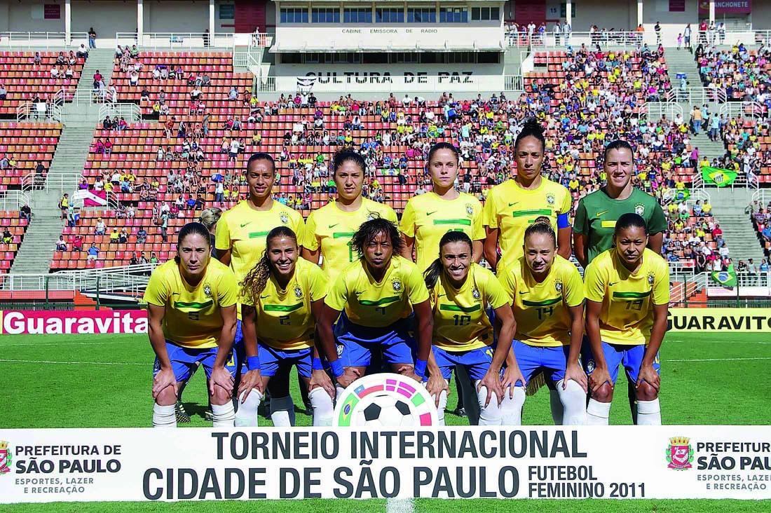 Formación de selección femenina de Brasil ante Chile, Torneio Internacional Cidade de São Paulo 2011, 11 de diciembre