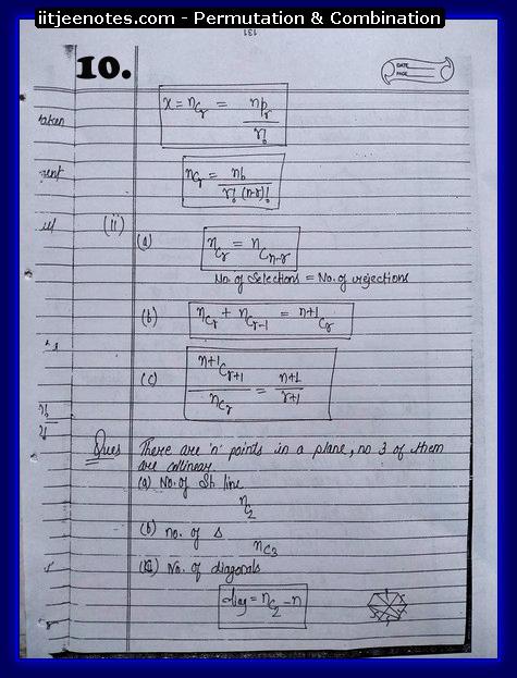 IITJEE Notes on Permutation & Combination10