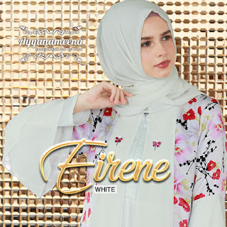 dress muslimah modis  Ayyanameena Eirene White
