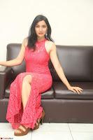 Sakshi Kakkar in Red Legsplit Sleeveless Gown at Dare movie Press meet ~  Exclusive 069.JPG