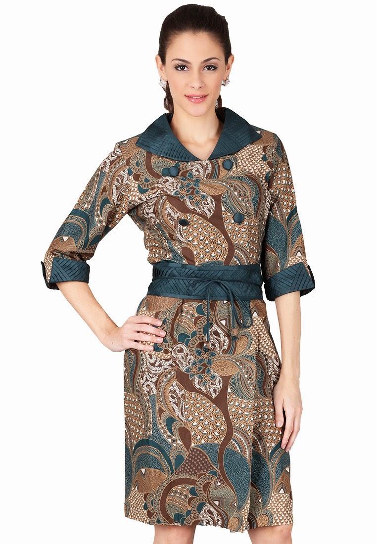 Model Baju Batik Modern Wanita untuk Kerja