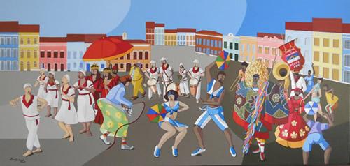 Carnaval de Pernambuco - Arnaldo Lopes | Pinturas com o tema: Carnaval