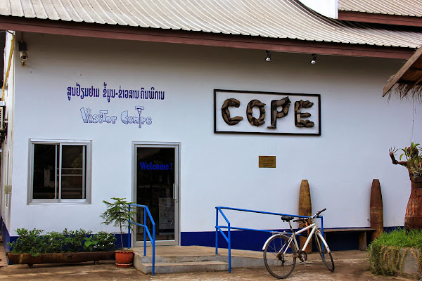 Access to COPE main visitors center - Vientiane