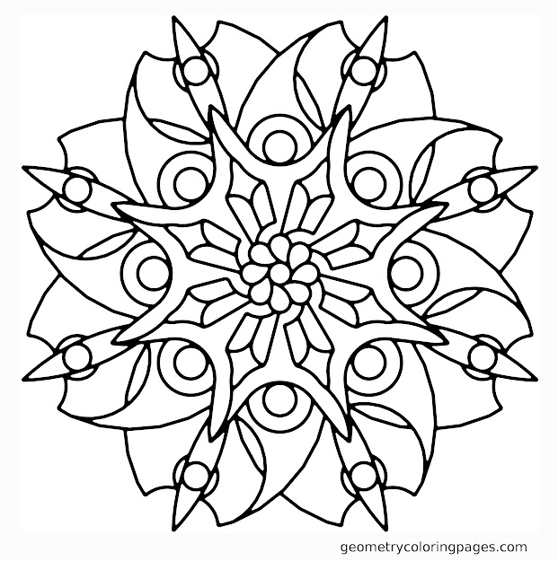 Geometric And Abstract This Is Modern Mandala Coloring Page For Adults To