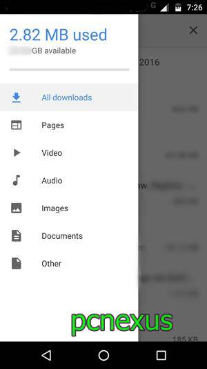 hidden file manager in chrome android