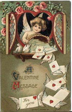 Victorian Valentine's card