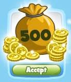 CoasterVille Free 500 Coins- gamechitah.com