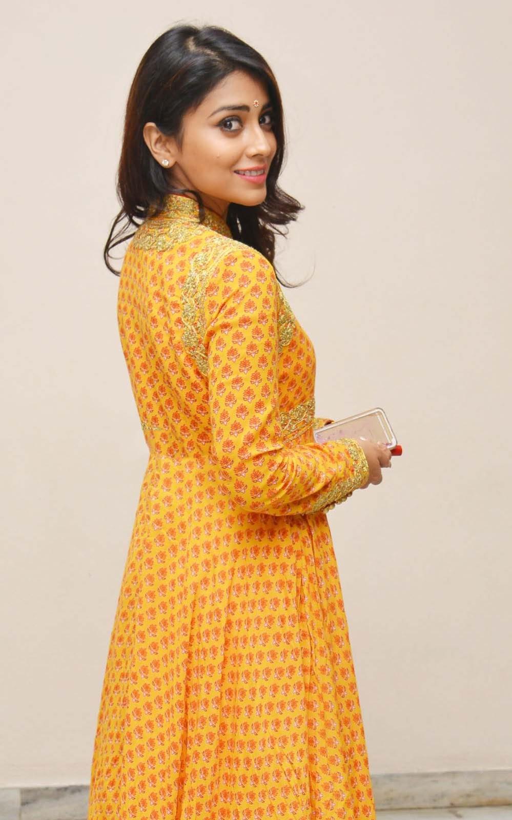 Shriya Saran In Yellow Dress