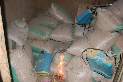 boko haram food storage warehouse destroyed
