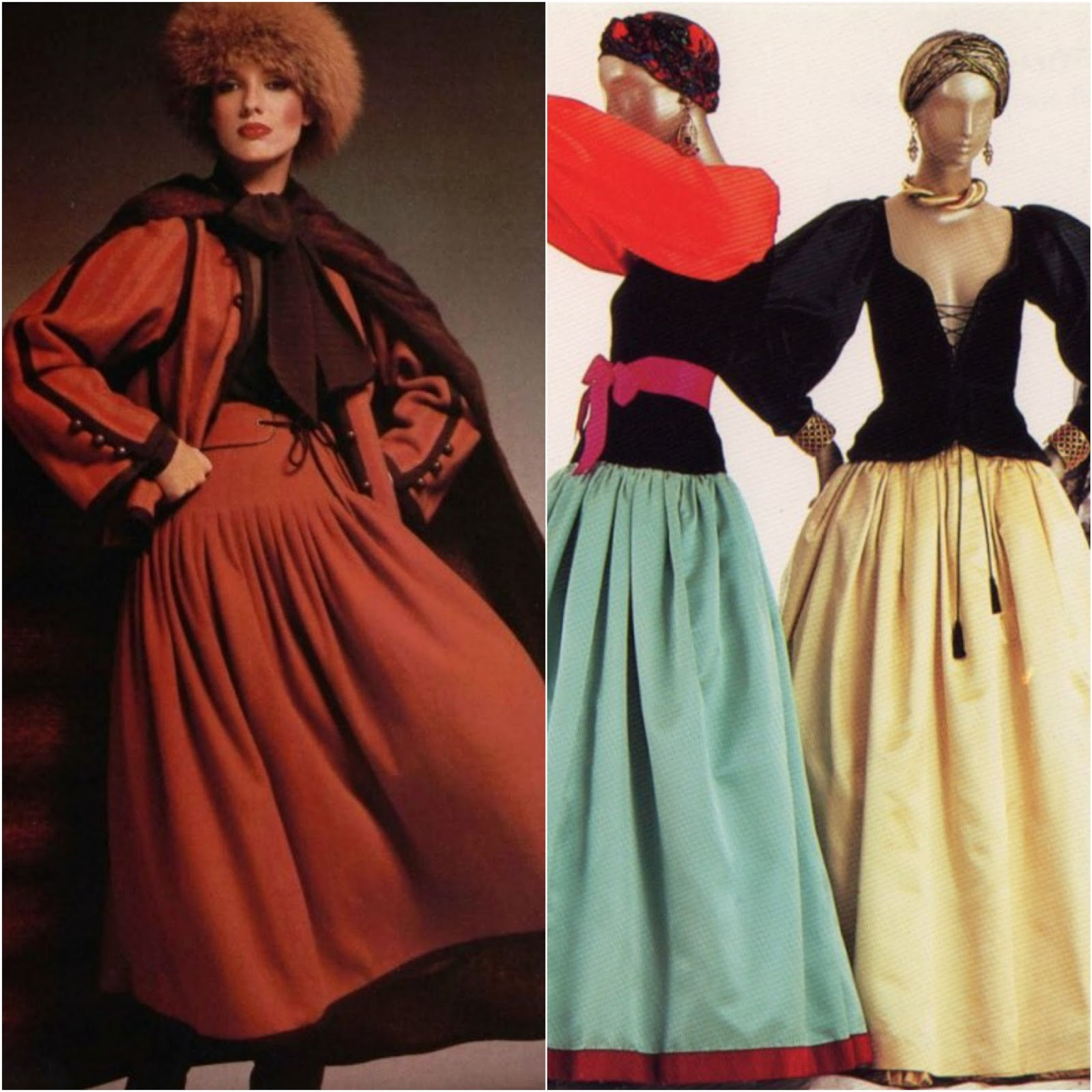 """561f1b52136 Yves Saint Laurent Haute Couture Fall Winter 1976 1977 """"Ballets Russes""""  Collection"""