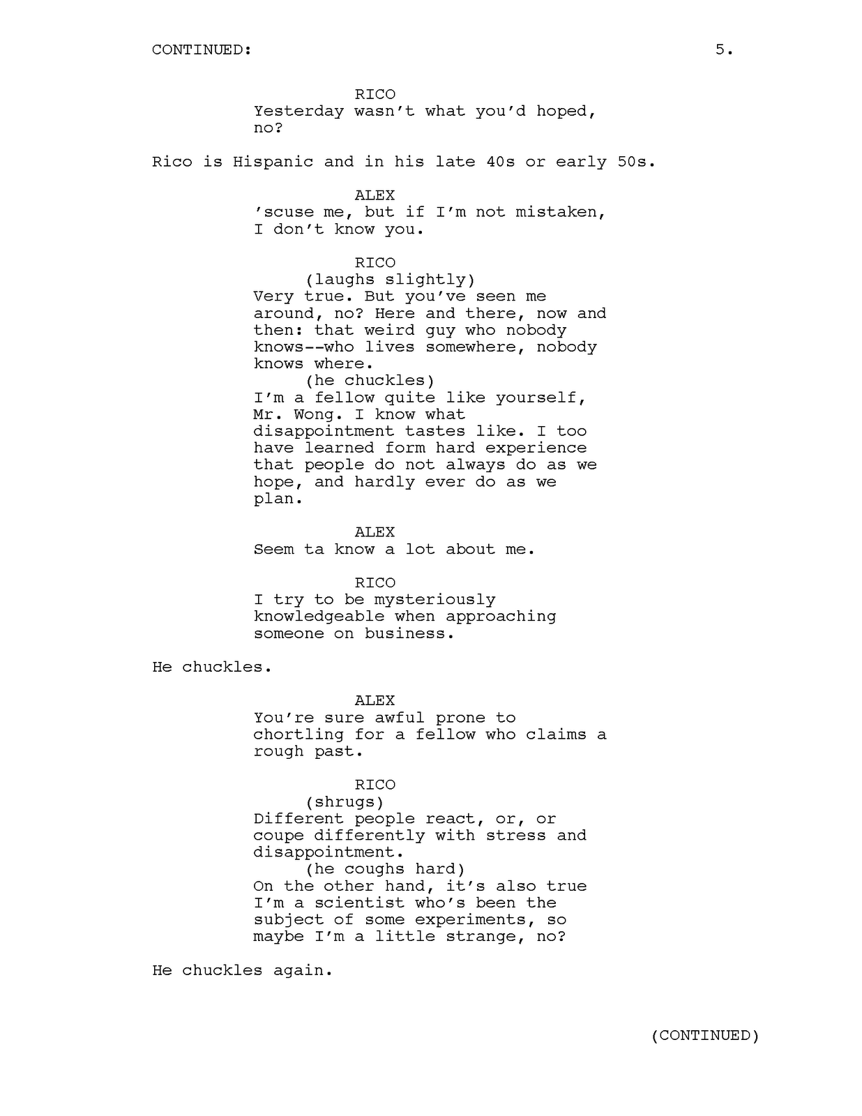 Josephfaultersack tv pilot script sample for Podcast script template