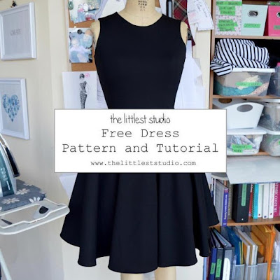 The Vintage Pattern Files: 1950s Free Sewing Pattern - 1950s Style Little Black Dress