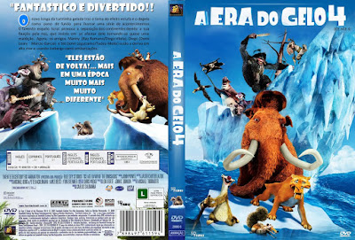 Filme A Era do Gelo 4 (Ice Age Continental Drift) DVD Capa