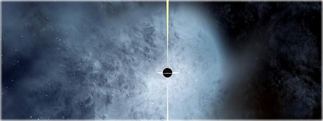 buraco negro supermassivo viaja pelo espaço intergalático