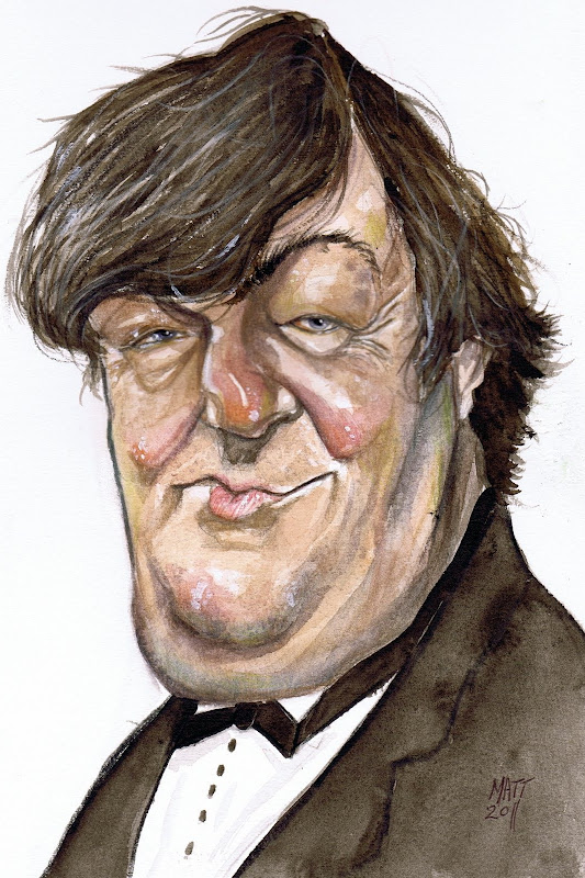 Stephen Fry (watercolor)