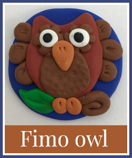 Fimo polymer clay owl craft