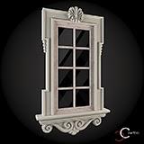 modele decorative case exterior fatade de casa cu ornamente geamuri exterior win-016