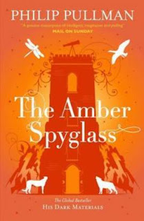 Book cover for Philip Pullman's The Amber Spyglass in the South Manchester, Chorlton, and Didsbury book group