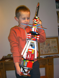 lego tower guitar laser gun