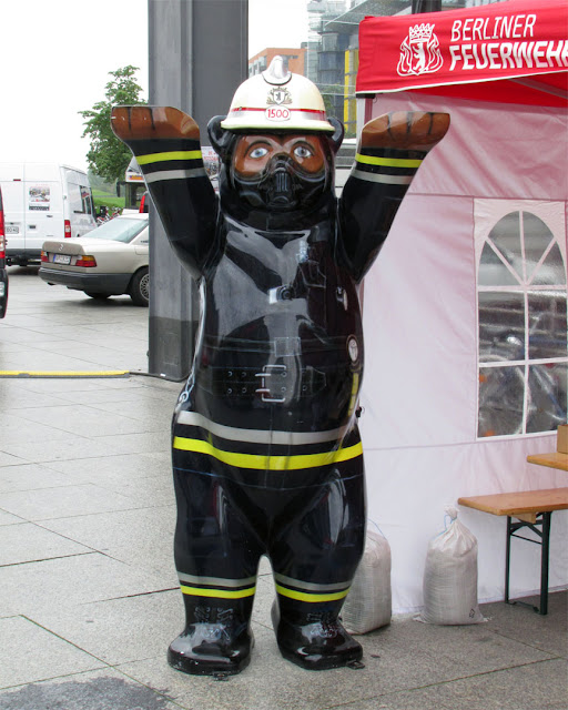 Firefighter Bear, Berlin Firefighter Challenge, Potsdamer Platz, Berlin