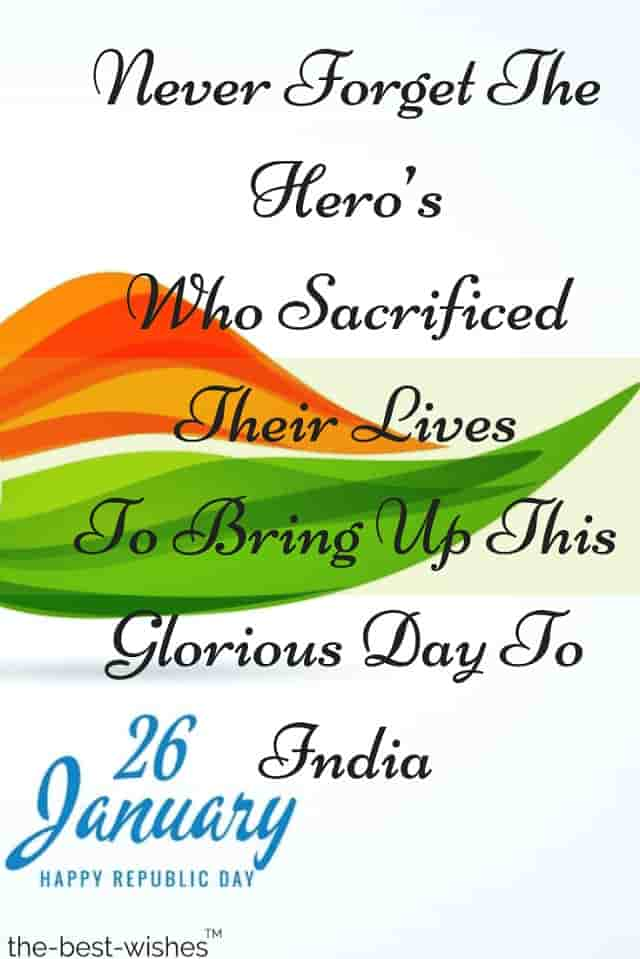 26 january republic day india wishes sms