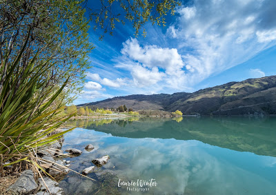 Clouds, Clutha River, Clyde, New Zealand, NZ, Sunny