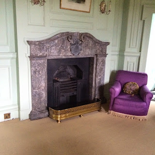 Upstairs Bedroom Fireplace and Chair in Russborough House