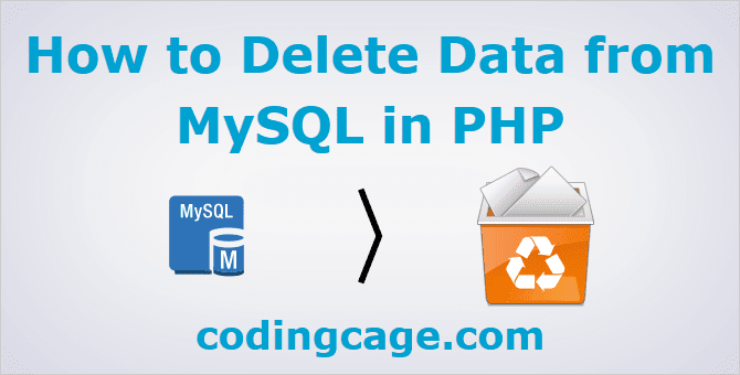 Delete Data from MySQL in PHP