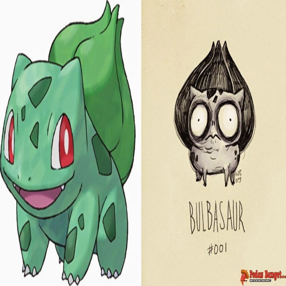 Potretilustrasi Menyeramkan Dari Gambar Pokemon Versi Tim Burton