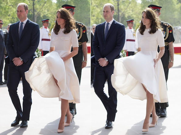 Prince William and his wife Duchess Catherine of Cambridge visited Mahatma Gandhi Museum in a windy weather
